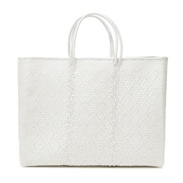 MERCADO BAG ROMBO - White(L)