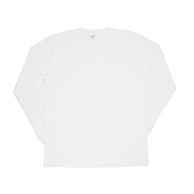【gicipi】 イタリア製 コットン クルーネック 長袖 Tシャツ ( Giro Collo ML 2003 P) 〈White〉