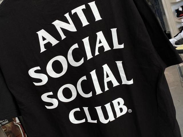 ANTI SOCIAL SOCIAL CLUB Logo Tee BLACK LARGE 25KB2840