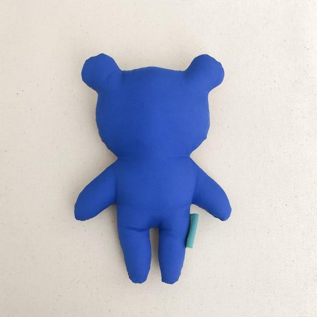 ぬいぐるみBODY_KUMA_(brown&peacock_Lame/blue)