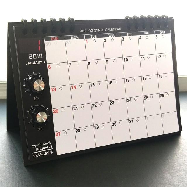 【マグネット】シンセツマミ型マグネット 黒×レッド Synth Knob Magnet SKM