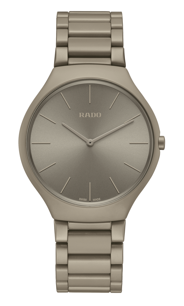 【RADO ラドー】True Thinline Les Couleurs™ Le Corbusier  Grey brown natural umber 32141/ シンライン  ル・コルビュジエ(アンバー) スイスメイド腕時計