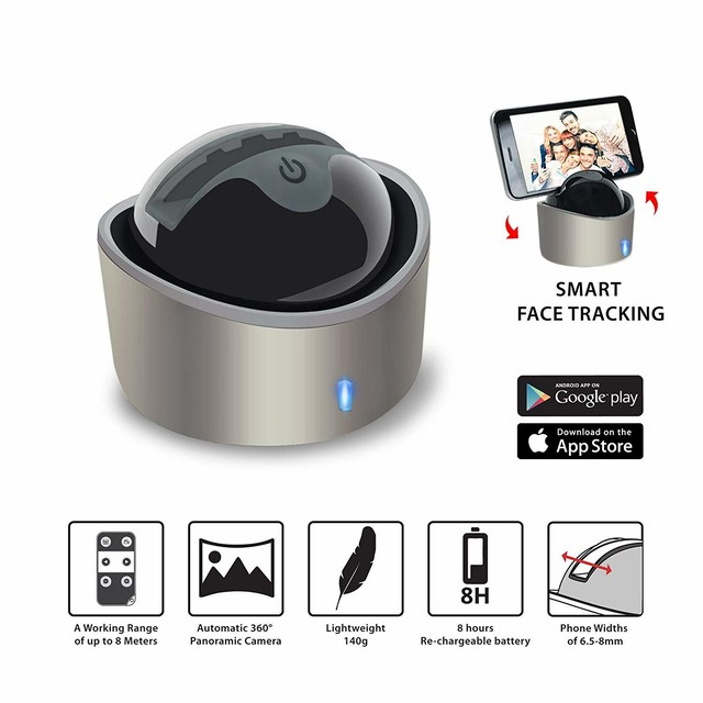 Follow me・ Smart Selfie Holder + YUNTENG VCT-1688 一脚