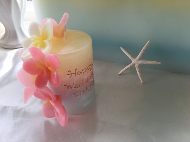 Shell botanical candle