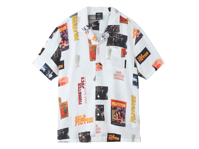 HUF|PULP FICTION PHOTO WOVEN TOP WHITE