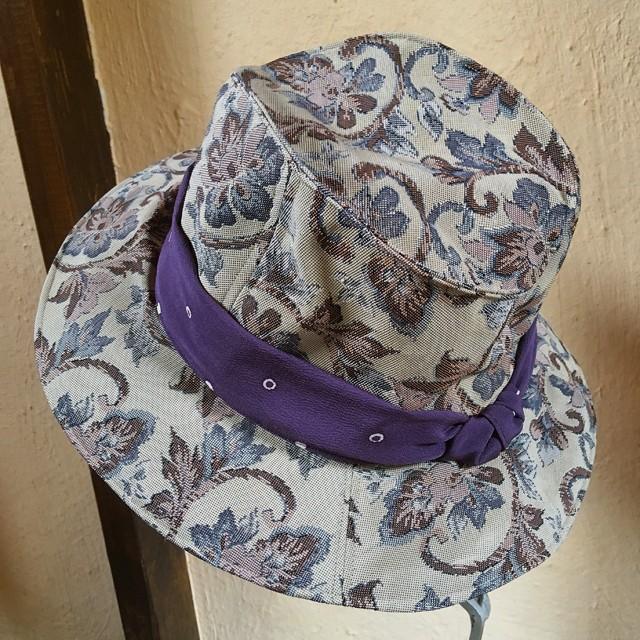 帯のカンカン帽『浅紫』