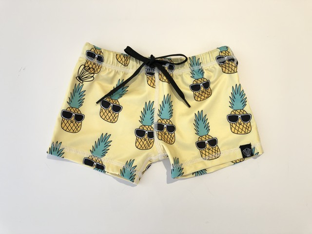 【20SS】BEACH&BANDITS -  / Panky pineapple swimshort (yellow) 水着 スイムウェア