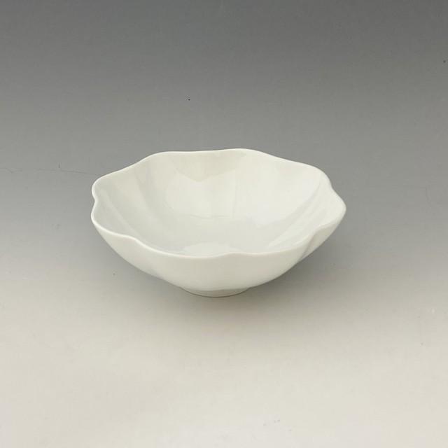 【中尾純】白磁輪花鉢