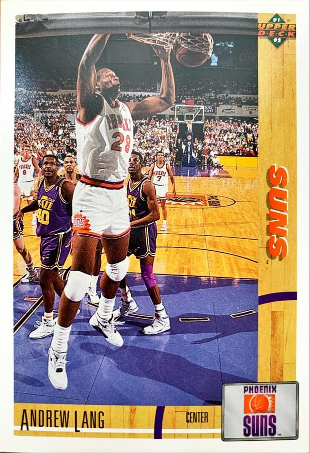NBAカード 91-92UPPERDECK Andrew Lang #158 SUNS