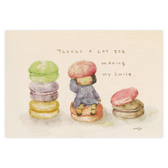 ポストカード『「macaronの帽子で」フェアリーほっこりちゃん』~ 和み工房 Kumi ~