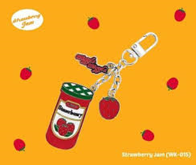 Key ring - strawberry