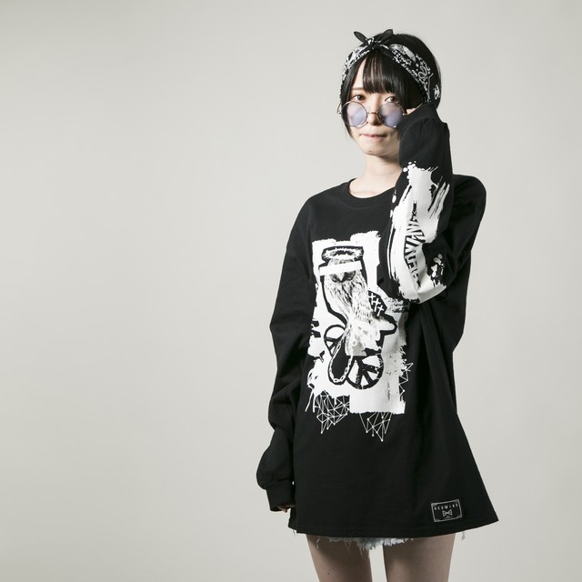 Bad Owl Long Sleeve T-shirt   Black