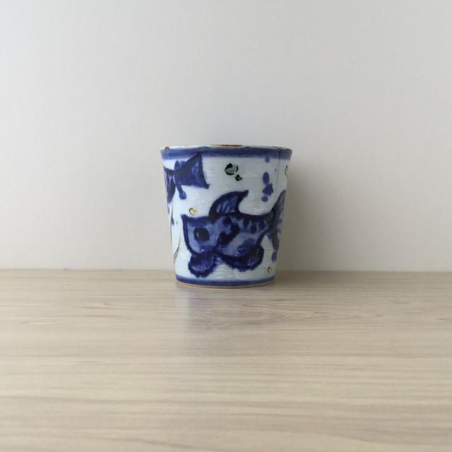 【ラストワン*波佐見焼】魚群 フリーカップ