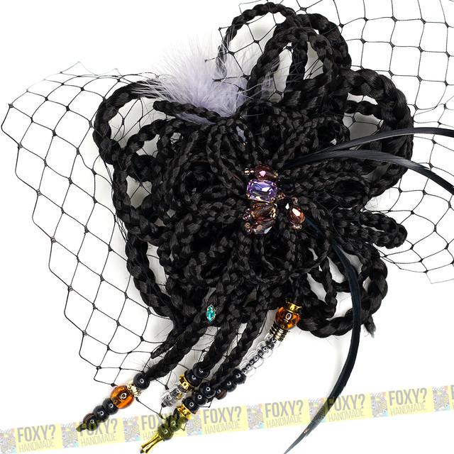 ブレイズ コサージュ/ヘッドドレス BLACK