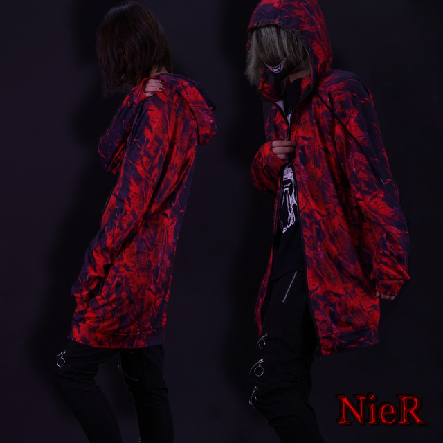 ZIP HOODIE【RED Feather】