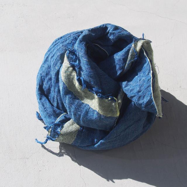 <30%OFF>COOVA スクエアストール Blue