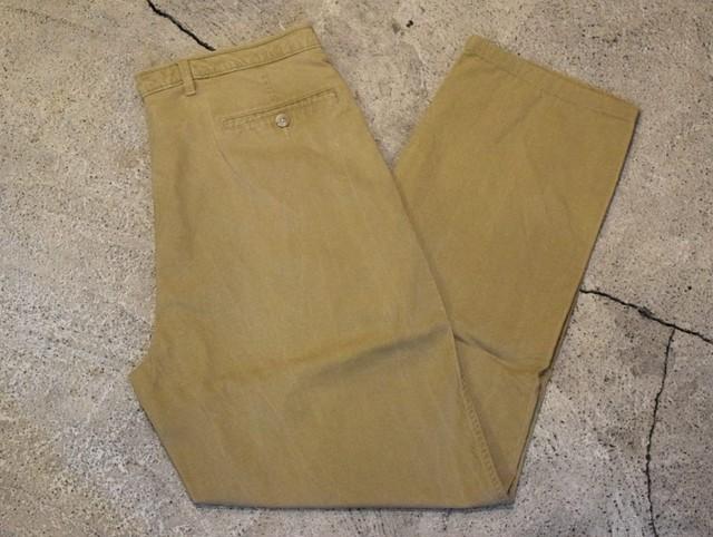 USED Eddie Bauer Cotton Tuck Pants W33 P0277