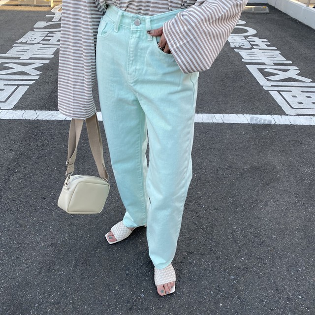 Candycolorストレートラフjeans/mint green