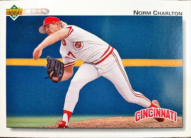 MLBカード 92UPPERDECK Norm Charlton #677 REDS