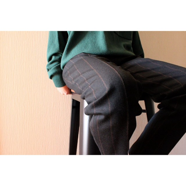 Vintage check wool slacks