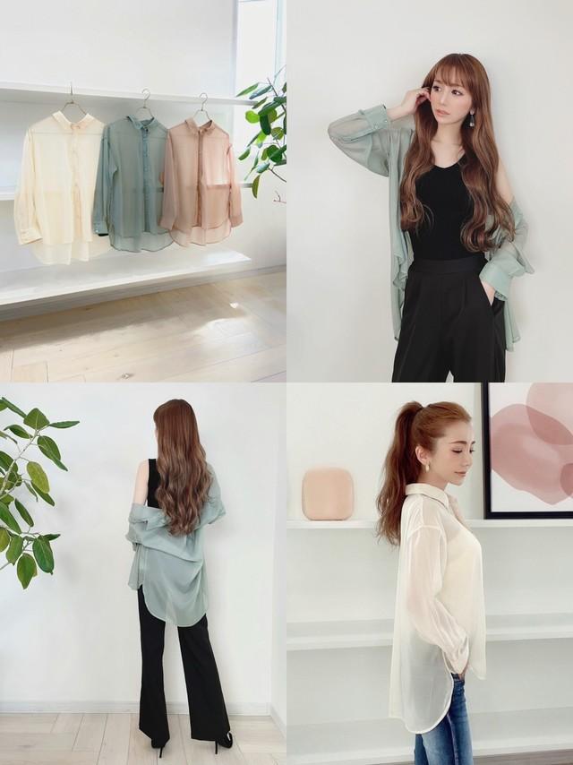 再販売✔︎上質♡エアリーシアーシャツ ¥5,900+tax