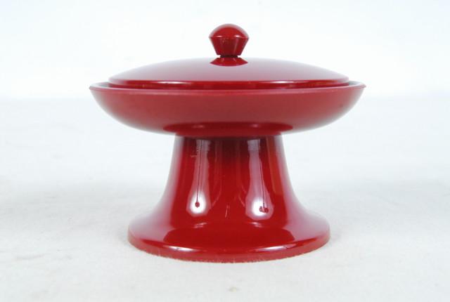 3512-10 未使用 仏具 茶台 二・五寸 朱色 7.5×7.5×6cm 愛知県岡崎市 直接引取限定