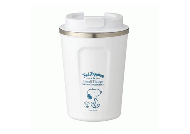 【マイカップで節約にも♪】スヌーピー コーヒータンブラー ホワイト