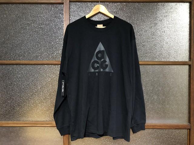 NIKE ACG LOGO L/S TEE (BLACK)