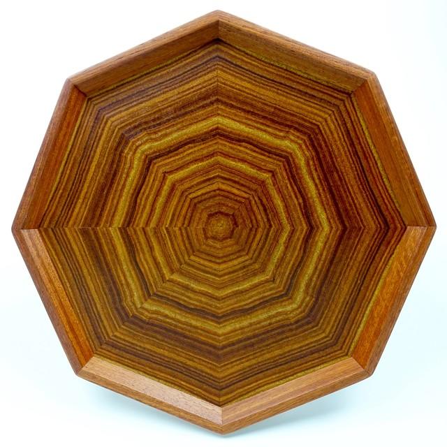 楠(瘤杢) 八角形のトレー OBKB-0171