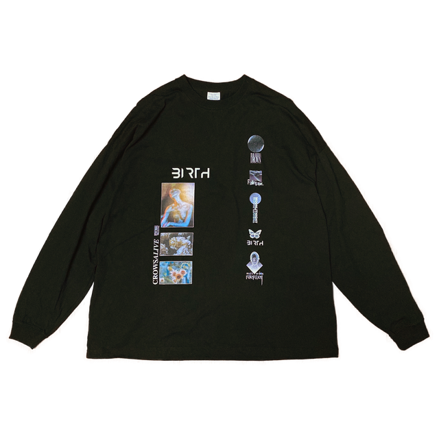 """【STAY DUDE COLLECTIVE x CrowsAlive】CrowsAlive / """"BIRTH"""" Artwork Long Sleeve"""