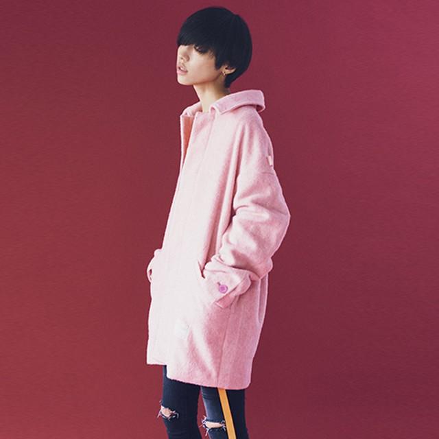 EFFECTEN/エフェクテン alpaca shaggy drop shoulder coat