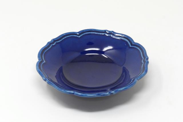 Awabi ware|輪花皿S(アイボリー・青マットグレー・瑠璃・パープル・白磁・黄色)