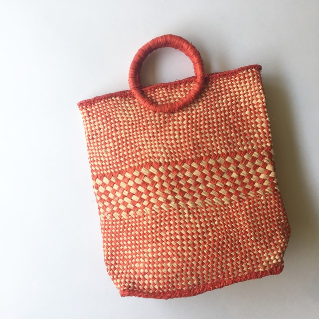 Raffia Check bag