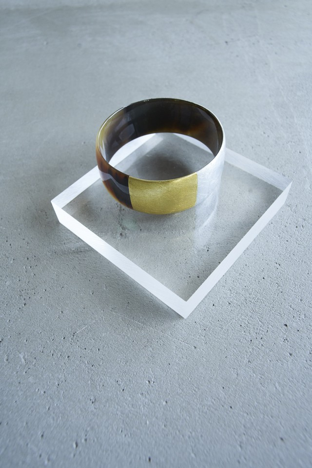L'INDOCHINEUR SILVER AND GOLDEN Bangle