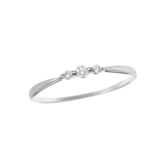K18WGダイヤモンドリング 010209003898