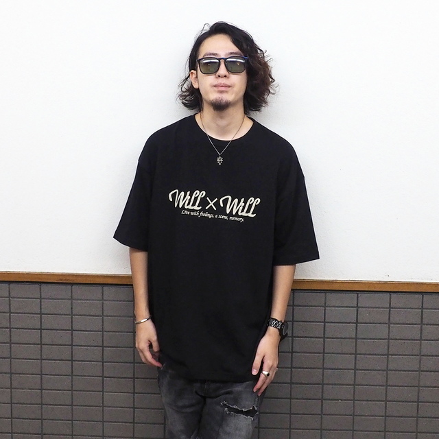 Will×Will logo Loose T-shirts BLACK