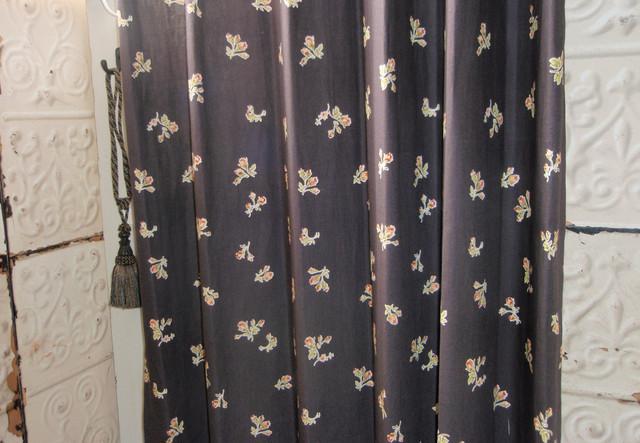 ヴィンテージプリント カーテン  Flowerフラワー401305 PR