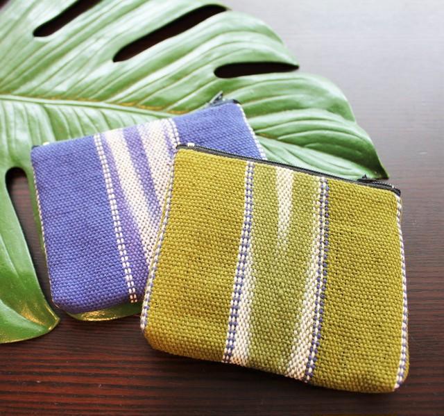 フェアトレード カレン族タイダイ手織り小物入れ