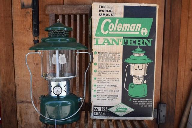 USED 美品 整備済み USA製 62年8月製 コールマン ランタン 228E 箱付き Coleman vintage ビンテージ