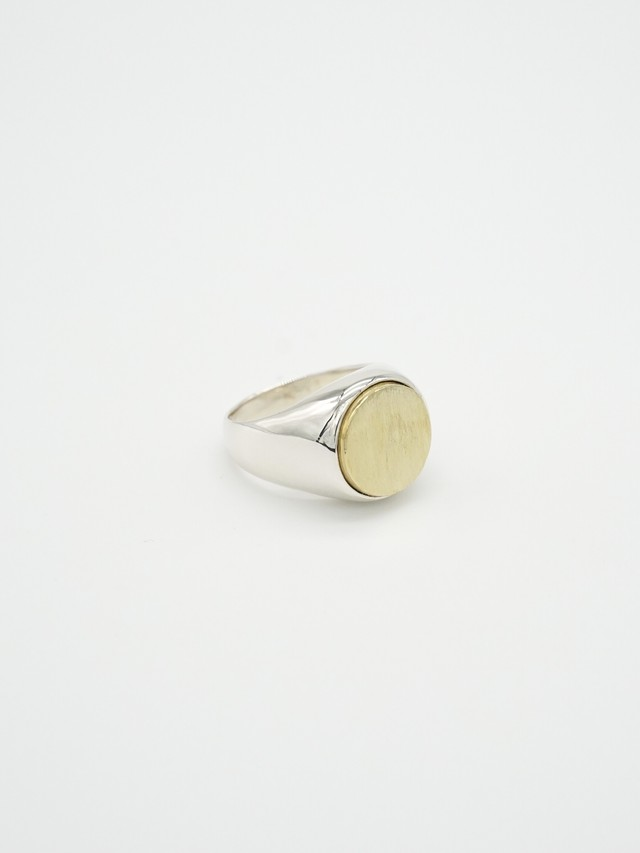 <3/7発売>wide combination ring -sharp brass-