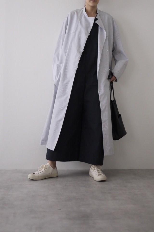 TENNE HANDCRAFTED MODERN ストライプシャツコート