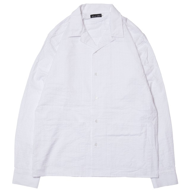 "【HOLE AND HOLLAND】7"" POCKET SUCKER SHIRT(WHITE)"