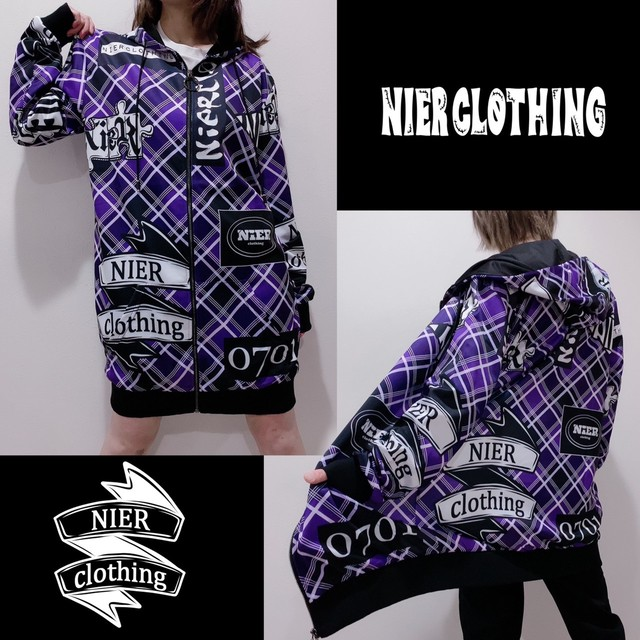 LONG LENGTH ZIP OUTER【PURPLE CHECK】