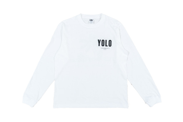 【YOLO surf long sleeve】/ white