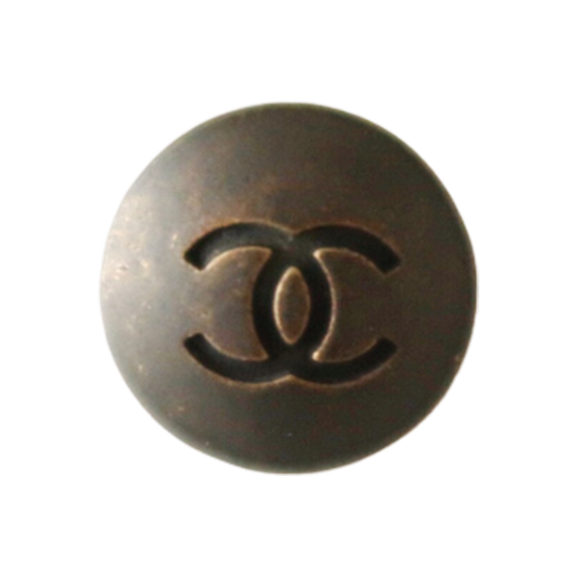 【VINTAGE CHANEL BUTTON】カッパー ココマーク ロゴボタン 20㎜ C-19210