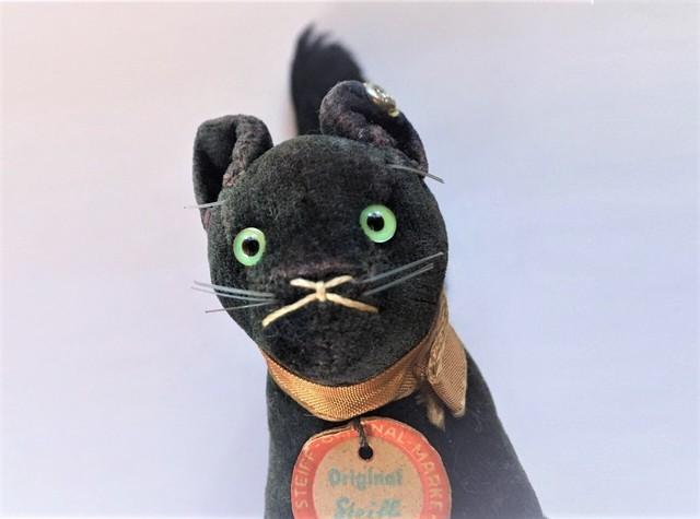 Steiff 黒猫 Black Tom Cat シュタイフ ヴィンテージ