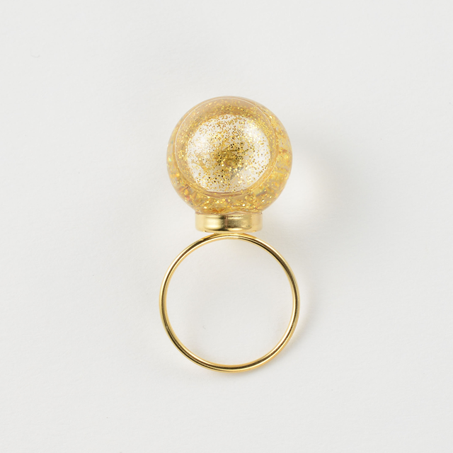 """<Charity Project """"Message"""">20mm Glass dome ring"""