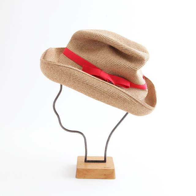 mature ha./BOXED HAT 101 mixbrown×red
