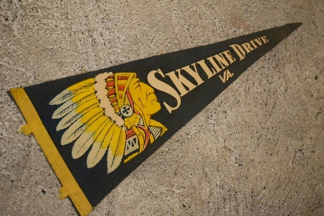 USED Vintage Pennants SKYLINE DRIVE G0390