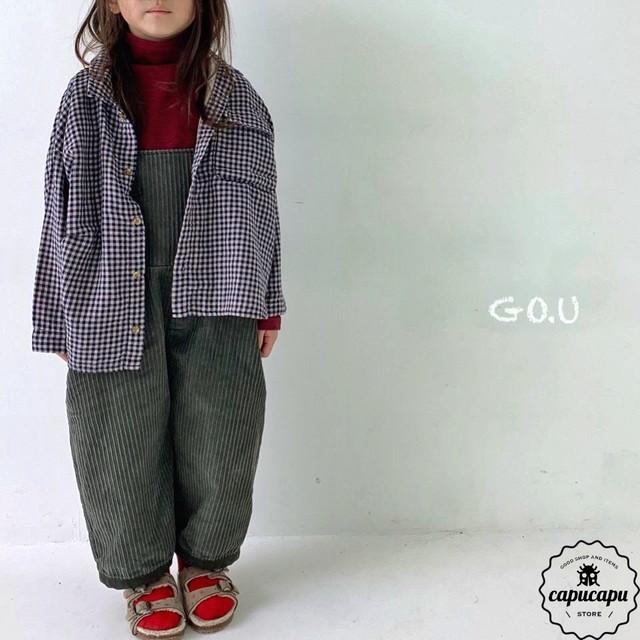 «予約» go.u overall 2colors コーデュロイ オーバーオール